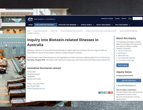 Australian parliamentary inquiry into biotoxin-related Illness – FAQ